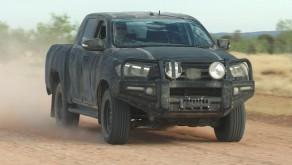 Toyota Hilux kuvattu Austarlian testeissä.